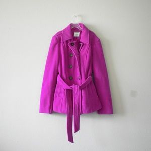 Old Navy Fushia Peacoat size Medium
